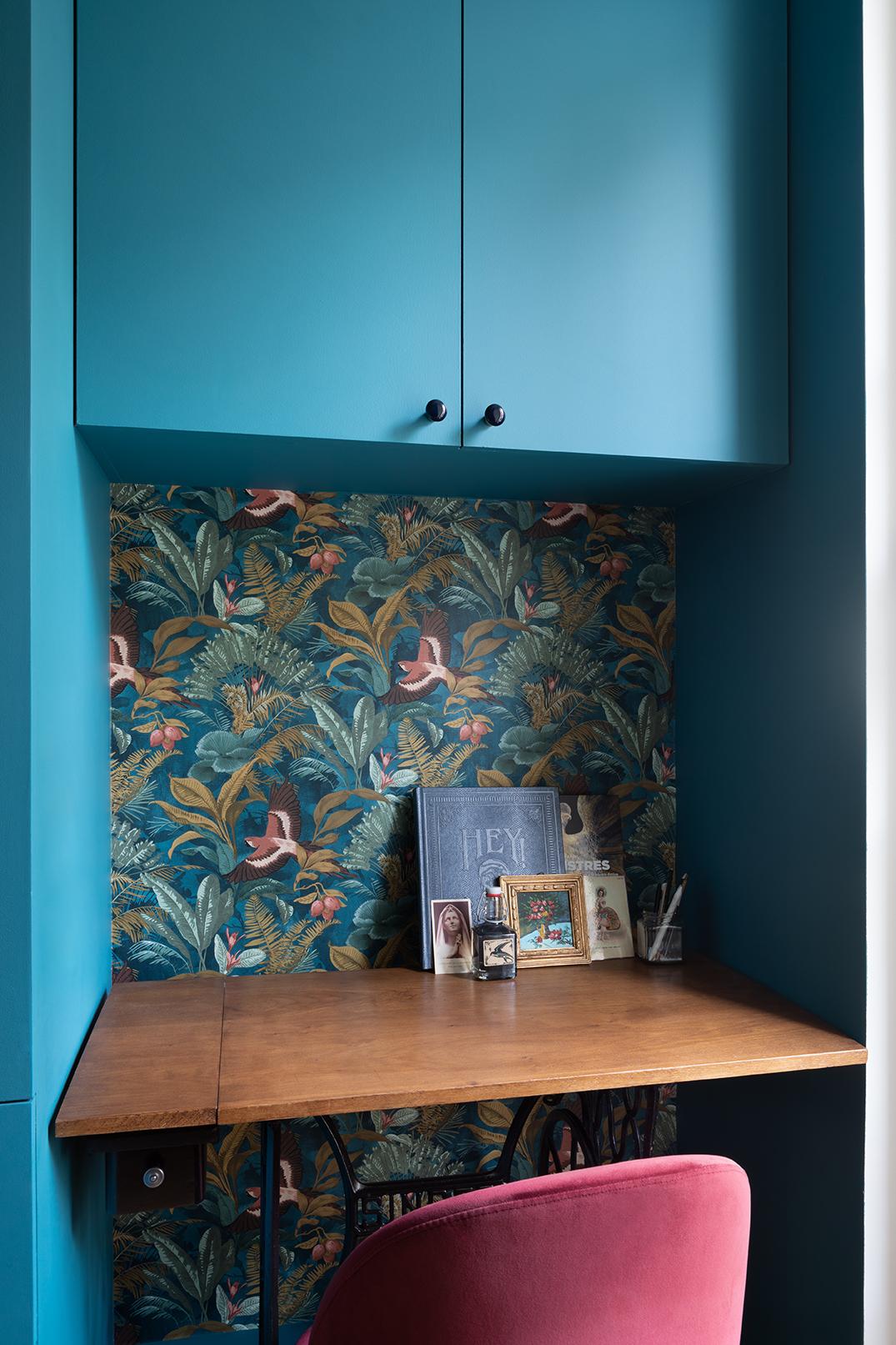 Studio Dallas dressing sur mesure, bureau, niche, papier peint, appartement parisien